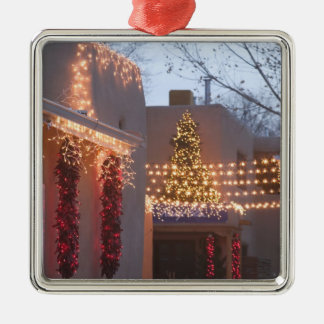 USA, New Mexico, Santa Fe: Canyon Road Gallery Christmas Ornament