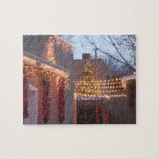 USA, New Mexico, Santa Fe: Canyon Road Gallery Jigsaw Puzzle