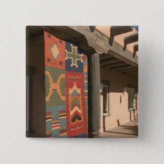 USA, New Mexico, Taos: Navaho Rug Gallery Kit 15 Cm Square Badge