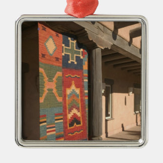 USA, New Mexico, Taos: Navaho Rug Gallery Kit Christmas Ornament