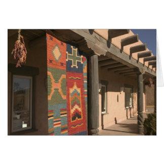 USA, New Mexico, Taos: Navaho Rug Gallery Kit Greeting Card