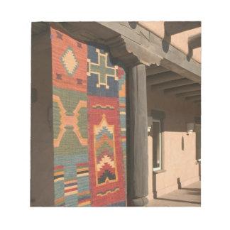 USA, New Mexico, Taos: Navaho Rug Gallery Kit Notepad