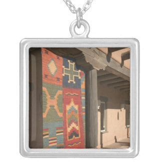 USA, New Mexico, Taos: Navaho Rug Gallery Kit Silver Plated Necklace