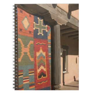 USA, New Mexico, Taos: Navaho Rug Gallery Kit Spiral Notebook