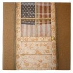 USA, New Mexico, Taos: Taos Indian Pueblo Large Square Tile