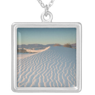 USA, New Mexico, White Sands National Silver Plated Necklace