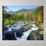 USA, New York. A waterfall in the Adirondack