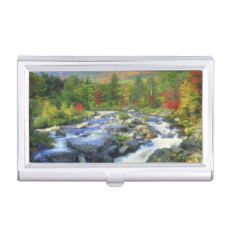 USA, New York. A waterfall in the Adirondack Business Card Holder