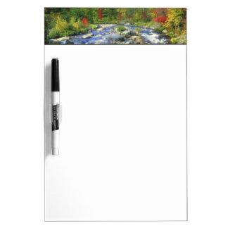 USA, New York. A waterfall in the Adirondack Dry Erase Board