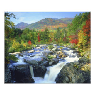 USA, New York. A waterfall in the Adirondack Photo Print