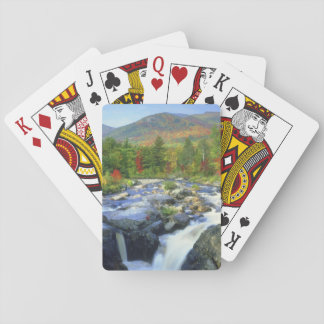 USA, New York. A waterfall in the Adirondack Playing Cards
