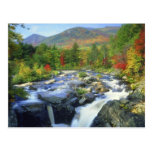 USA, New York. A waterfall in the Adirondack Post Card