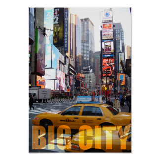 USA New York Big City Lifestyle Taxi Poster