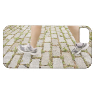 USA, New York City, Blurred legs of woman iPhone 5 Case