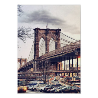 USA New York City Brooklyn Bridge Poster