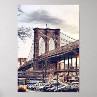 USA New York City Brooklyn Bridge Poster