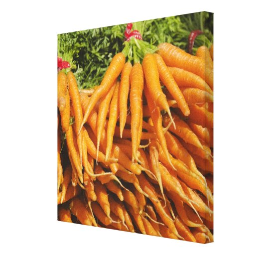 USA, New York City, Carrots for sale 2 Canvas Prints