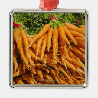 USA, New York City, Carrots for sale 2 Christmas Ornament