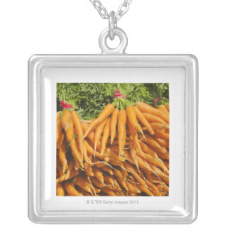 USA, New York City, Carrots for sale 2 Silver Plated Necklace