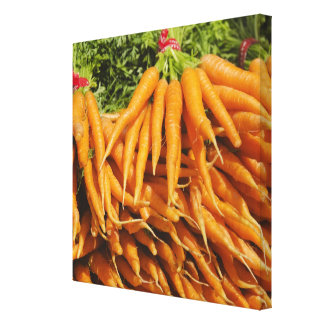 USA, New York City, Carrots for sale 2 Stretched Canvas Print