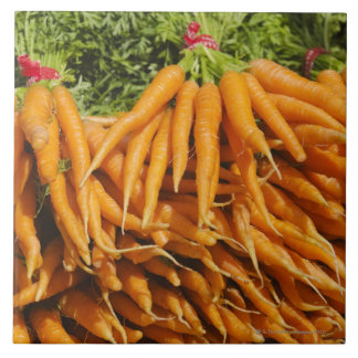 USA, New York City, Carrots for sale 2 Tile