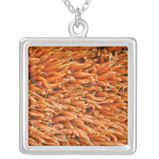 USA, New York City, Carrots for sale Silver Plated Necklace