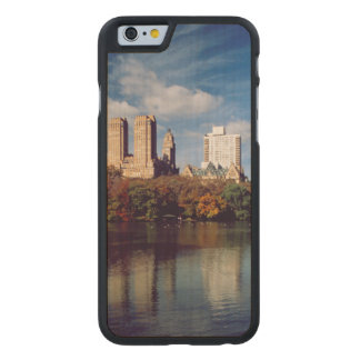 USA, New York City, Central Park, Lake Carved® Maple iPhone 6 Case