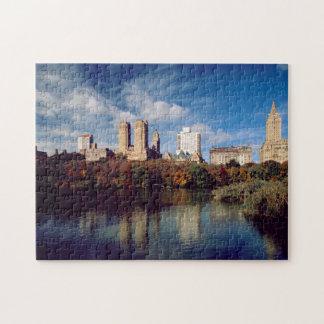 USA, New York City, Central Park, Lake Jigsaw Puzzle