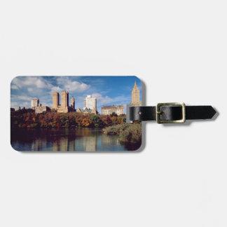 USA, New York City, Central Park, Lake Luggage Tag