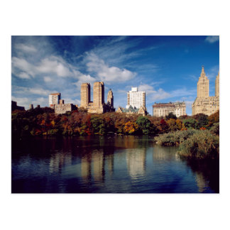 USA, New York City, Central Park, Lake Postcard