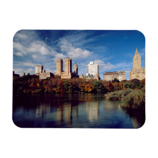 USA, New York City, Central Park, Lake Rectangular Photo Magnet