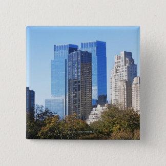 USA, New York City, Central Park with skyline 15 Cm Square Badge