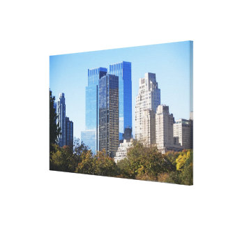 USA, New York City, Central Park with skyline Canvas Print