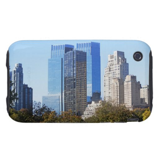 USA, New York City, Central Park with skyline Tough iPhone 3 Cases