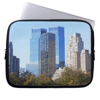 USA, New York City, Central Park with skyline Computer Sleeve