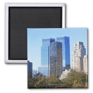 USA, New York City, Central Park with skyline Magnet
