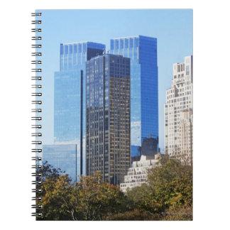 USA, New York City, Central Park with skyline Note Books