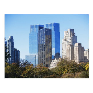 USA, New York City, Central Park with skyline Postcard