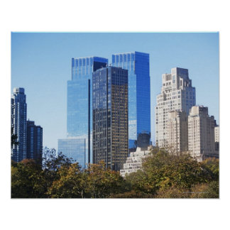 USA, New York City, Central Park with skyline Poster
