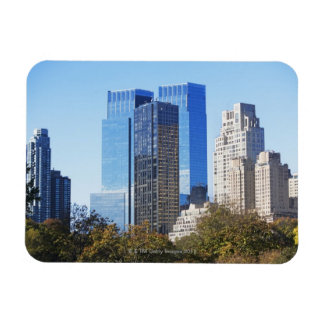 USA, New York City, Central Park with skyline Rectangular Photo Magnet
