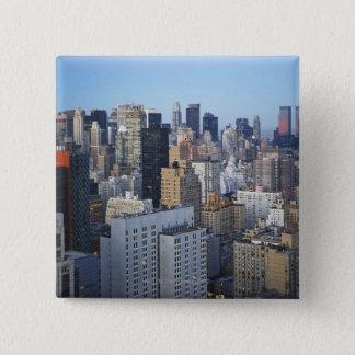 USA, New York City, Manhattan skyline 15 Cm Square Badge