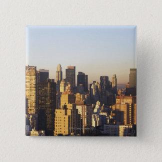 USA, New York City, Manhattan skyline 2 15 Cm Square Badge