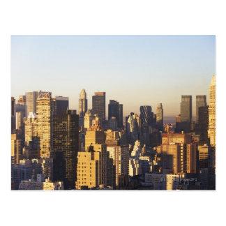 USA New York City Manhattan skyline 2 Post Cards