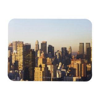 USA, New York City, Manhattan skyline 2 Rectangular Photo Magnet