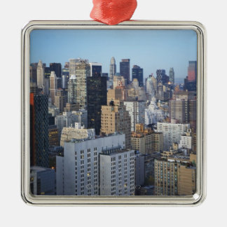 USA, New York City, Manhattan skyline Christmas Ornament