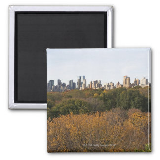 USA New York City Manhattan skyline from Magnets