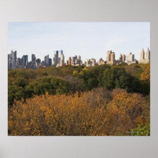 USA, New York City, Manhattan skyline from Poster