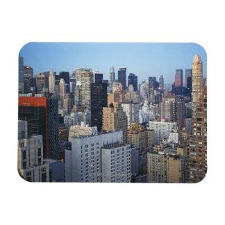 USA, New York City, Manhattan skyline Rectangular Photo Magnet
