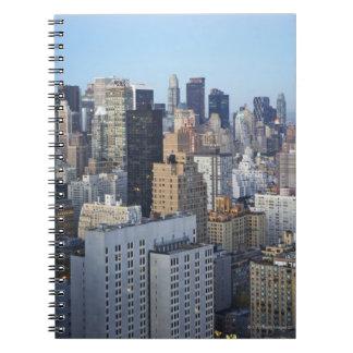 USA, New York City, Manhattan skyline Spiral Notebook