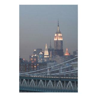 USA, New York City, View of Manhattan Bridge, Photo Print